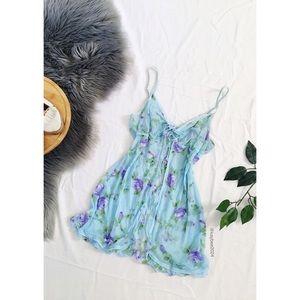 🌿 Victoria's Secret Blue Floral Babydoll 🌿